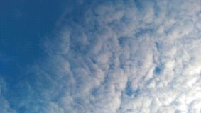 Cloudy sky. Blue cloudy sky royalty free stock image