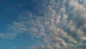 Cloudy sky. Blue cloudy sky stock photo
