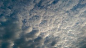Cloudy sky. Blue cloudy sky royalty free stock photography