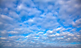 Cloudy sky. Blue cloudy sky, abstract background Stock Photography