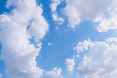 Cloudy sky and blue clear sky clouds background Stock Photography