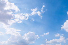 Cloudy sky and blue clear sky clouds background Royalty Free Stock Photos