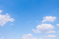 Cloudy sky and blue clear sky clouds background Royalty Free Stock Photography