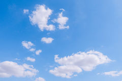 Cloudy sky and blue clear sky clouds background Stock Images