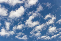 Cloudy sky. Blue sky with clouds all over Royalty Free Stock Photos