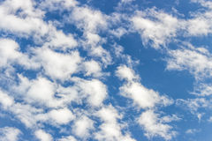 Cloudy sky. Blue sky with clouds all over Royalty Free Stock Photography