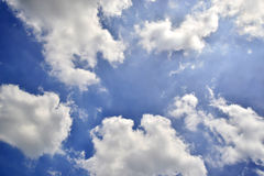 Cloudy sky. Blue sky and clouds, Cloudscape, Cumulus Cloud Royalty Free Stock Photos