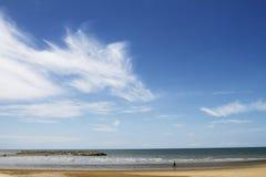 Cloudy and sky. The blue sky cover the ocean sea Stock Photos