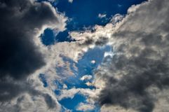 Cloudy sky and blue sky weather. Cloudy sky blue weather dull stock image