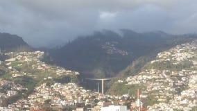 Bridge between mountains in Madeira royalty free stock photos
