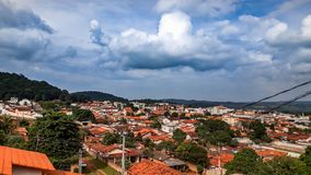 Cloudy Sky City in Brazil royalty free stock photography