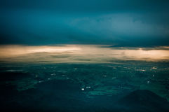 Cloudy sky and city Royalty Free Stock Photos