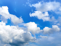 Cloudy sky. Clouds in the daytime sky on a sunny day Royalty Free Stock Photos