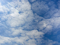 Cloudy sky. Clouds in the daytime sky on a sunny day Stock Image