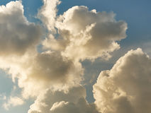 Cloudy sky. Clouds in the daytime sky on a sunny day Royalty Free Stock Images