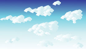 Cloudy sky. Sky with clouds in a summer day Royalty Free Stock Photography