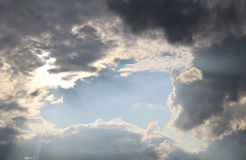 Cloudy sky. Clouds on the sky on a summer day Royalty Free Stock Image