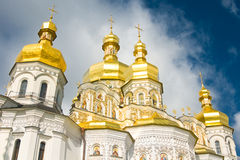 Cloudy sky and Cupola of Orthodox church Royalty Free Stock Image