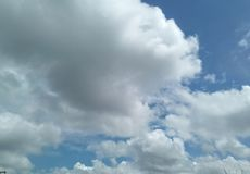 Beautiful big cumulus  in the sky Royalty Free Stock Photos
