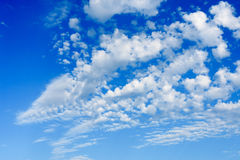 Cloudy sky daylight. Natural sky composition Royalty Free Stock Images