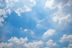 Cloudy sky in daytime. At Bangkok, Thailand Royalty Free Stock Photos
