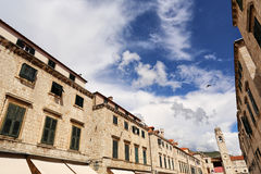 Cloudy sky in dubrovnik Royalty Free Stock Images