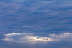 Cloudy sky early Royalty Free Stock Photography