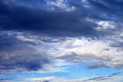 Cloudy sky in evening Royalty Free Stock Photo