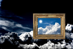 Cloudy sky with frame Royalty Free Stock Photography