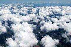 Cloudy Sky from Above Stock Images