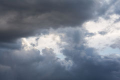 Cloudy sky. Cloudy and gray sky in late evening Stock Photos