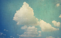 Cloudy sky grunge texture background Stock Image