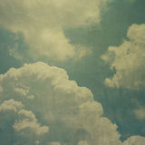 Cloudy sky grunge texture background Stock Photography