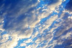 Cloudy sky, high resolution Royalty Free Stock Photo