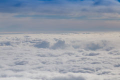 Cloudy sky with horizon Stock Images
