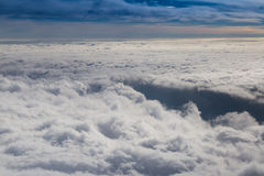 Cloudy sky with horizon Stock Photography