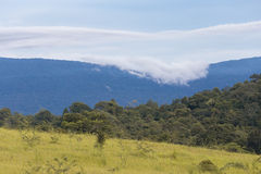 Cloudy sky and mountain Stock Image