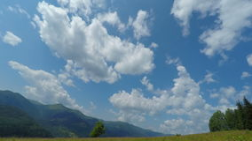 Cloudy Sky in Mountains stock footage