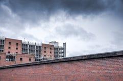 Cloudy sky. A multi storey car park Stock Image