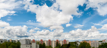 Cloudy sky in Munich - Neuperlach royalty free stock photo