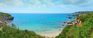 Cloudy sky over Alghero shoreline Royalty Free Stock Image