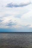 Cloudy sky over Baltic sea. Stock Photography