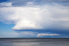 Cloudy sky over Baltic sea. Royalty Free Stock Photo