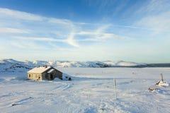 Cloudy sky over the Barents Sea. Teriberka, Murmansk region, Rus Royalty Free Stock Image