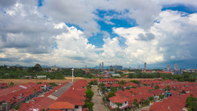 Cloudy sky over city Stock Image