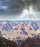 Cloudy sky over Grand Canyon Mountains, USA Royalty Free Stock Photography