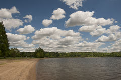 Cloudy sky over lake Stock Image