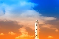 Cloudy sky over the lighthouse Stock Photography