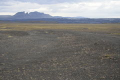 Cloudy sky over mountains in Iceland Royalty Free Stock Photography