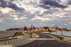 Cloudy sky over Nessebar city Royalty Free Stock Image